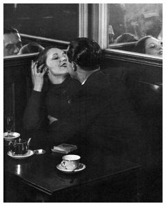 BRASSAI Lovers in cafe,  Paris 1932